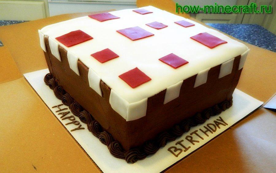 торт в Майнкрафт