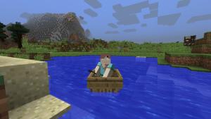 в лодке майнкрафт