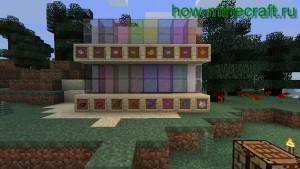 цветное стекло майнкрафт